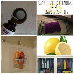 25 EASY Household Cleaning & Organizing Tips