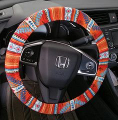 Cute Cars Accessories Discover Your place to buy and sell all things handmade Tucson Southwest Aztec Steering wheel cover/ Terracota tribal Car Accessories India, Car Interior Accessories, Car Interior Decor, Car Accessories For Girls, Tucson, Hippie Car, Car Steering Wheel Cover, Girly Car, Cute Cars