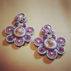 Original Soutache Earrings Margarita Design by LittleVeniceDesign