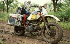 Africa mud roads. Old school adventure. 1993 my friend Nardus travelled Africa on a Yamaha. The original adventure bikers. http://www.wilddog.za.net/forum/index.php?topic=21558.0