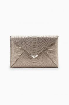 Gold Pewter Envelope Clutch Purse | Stella