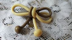 Brooch celluloid but age not yet examined, www.helensjoyeria.com