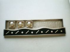 Gorgeous-Modernist-Deco-Sterling-Silver-925-Pearl-Enamel-Brooch-Pin-24-grams