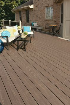 Shop AZEK 1 x 6 Dark Hickory Composite Decking at Lowe's Canada. Find our selection of composite decking at the lowest price guaranteed with price match + off. Pvc Decking, Composite Decking, Plastic Decking, Decking Ideas, Outdoor Living, Outdoor Decor, Outdoor Spaces, Outdoor Ideas, Wood Stain Colors