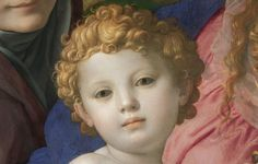 """detail from """"Holy Family with St. Anne and the Infant"""" by Agnolo Bronzino @ Kunsthistorisches Museum Vienna Renaissance Paintings, Renaissance Art, Catholic Art, Religious Art, Portraits, Portrait Art, Madonna, Italian Paintings, Jesus Painting"""