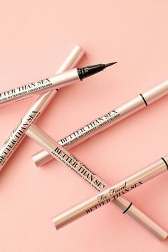 This cutting-edge liquid eyeliner is the easiest you'll ever use, created to produce a sharp, fluid, smudge-proof line, every time! The combination of our Easy Glide 24-hour waterproof formula and our innovative dual-fiber brush creates an eyeliner so amazing, it's…Better Than Sex. #PerfectEyeliner #HowToDoEyeshadow Perfect Eyeliner, Best Eyeliner, Winged Eyeliner, Eyeliner Waterline, Eye Brows, Eyeliner Pencil, I Love Makeup, Gorgeous Makeup, Daily Makeup