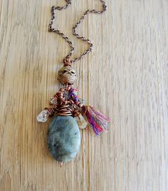 Bohemian necklace yoga necklace yoga jewelry by OmSaha on Etsy