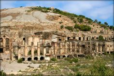 The ghost town of Ingurtosu, Sardinia
