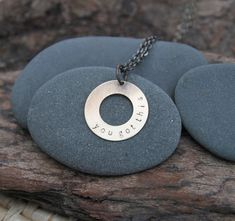 Beautiful you, in this moment, give yourself permission to believe: you got this. Yes.  :: a soul mantra necklace