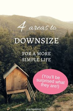 here are 4 key areas that you should downsize to simplify your life. Downsizing isn't only about moving into a smaller home. Find out what you need to downsize now! Declutter your life so that you can live the life you want. This post will give you ideas of where to start decluttering your life! #downsizing #declutteryourlife