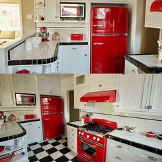 Another happy Big Chill customer completes their dream 1950's inspired kitchen, with help from NativeOak.com What do you think? #BigChill