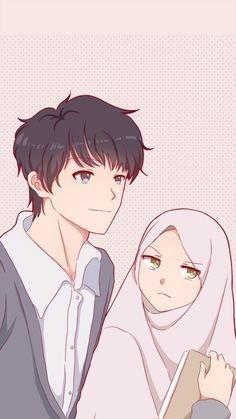 Cute Couple Art, Anime Love Couple, Couple Pics, Couple Quotes, Couple Goals, Wife Quotes, Couple Selfie, Cute Couple Cartoon, Cute Muslim Couples