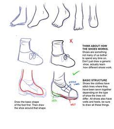 How To Draw Manga feet