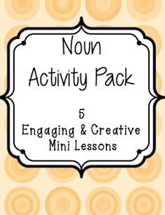 Engaging grammar lessons for middle school! This lady has creative and engaging lesson plans on her blog!