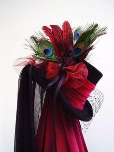 Black top hat  steampunk Lady Philamaes wedding. £130.00, via Etsy.