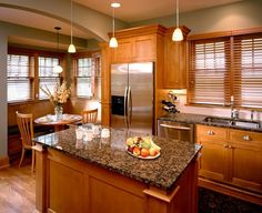 Kitchen Design Ideas With Oak Cabinets the best wall paint colors to go with honey oak | green wallpaper