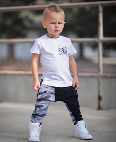 Our joggers are perfect for your hipster baby or hipster toddler who like to stand out! * Soft and comfortable Gray Camo print drop crotch zipper joggers * Black zipper pocket in the front * Black vertical pocket on the back (Right side) * Size is comparable to our regular joggers