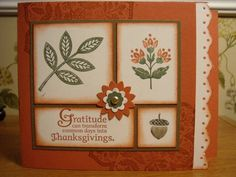Thanksgiving touches! by mitchygitchygoomy - Cards and Paper Crafts at Splitcoaststampers