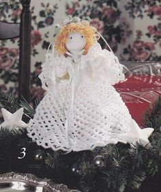 Angel Crochet Patterns - Christmas Tree Topper, Ornaments
