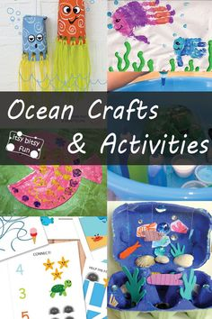 Summer is a great time to create ocean inspired crafts and activities with the kids.