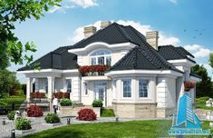 Village House Design, Village Houses, Facade House, Design Case, Modern House Design, Home Fashion, Home Builders, Architecture Design, House Plans