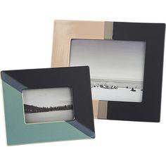 ojai dipped ceramic picture frames | CB2