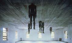 Antony Gormly: http://www.antonygormley.com/uploads/images/0244_learningtothink_1991_001.jpg