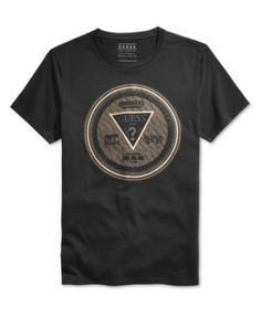 GUESS Men's Currency Graphic-Print Logo T-Shirt