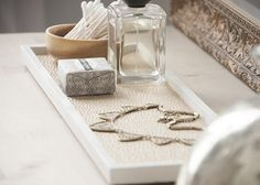 Quick & Easy Gold Lined Tray using I expensive wooden wall plaques, so smart  House of Earnest