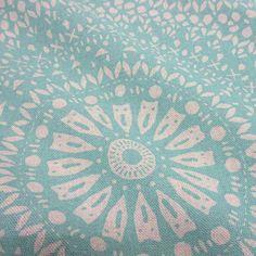 Stoff Meterware Baumwolle Mandala türkis natur ethno von werthersstoffe auf Etsy