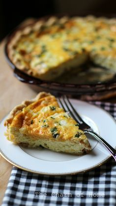 The Charm of Home: Cheese & Bacon Quiche