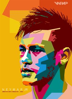 neymar WPAP Soccer Art, Football Art, Pop Art Portraits, Portrait Art, Neymar Jr Wallpapers, Football Wallpaper, Arte Pop, Sports Art, Art Design