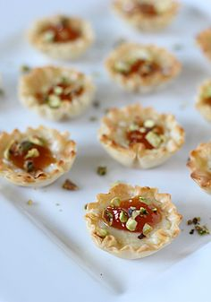 Brie, Apricot, and Pistachio Mini-Phyllo Cups