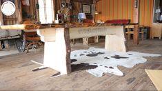 Wielki drewniany stół ogrodowy wykonany z surowej sosny skandynawskiej