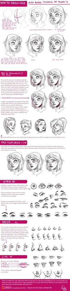face tutorial by Fukari.deviantart.com on @DeviantArt