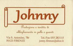 Johnny - abbigliamento in pelle e guanti