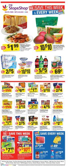Stop and Shop Circular September 23 - 29, 2016 - http://www.olcatalog.com/grocery/stop-and-shop-circular.html