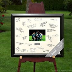Personalized Gift - Laser Engraved Wedding Wishes Signature Frame - Coach/Team - Special Holiday Gift Cheer Banquet, Football Banquet, College Football, Alabama Football, American Football, Quinceanera, Football Coach Gifts, Swim Coach Gifts, Cheer Coach Gifts