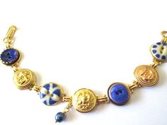 NAVY mom, NAVY wife, NAVY girlfriend, NAVY sailor! Antique Navy uniform button bracelet. One of a kind. Show your support!