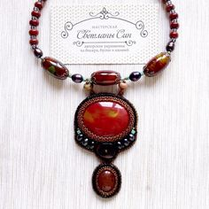 Колье с яшмой, обсидианом и жемчугом. Нашло хозяйку) #мастерская_син #sinbead #sinbeadjewelry #jewelry #necklace #украшения #колье