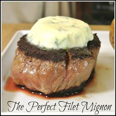 The Perfect Filet Mignon - going to make my man a yummy steak dinner tonight. Hopefully it'll resemble something like that yummy Delmonico filet mignon we had the first visit to Vegas a few years ago :D Gourmet Cooking, Cooking For Two, Beef Dishes, Food Dishes, Main Dishes, Beef Recipes, Cooking Recipes, Copycat Recipes, Grilling Recipes
