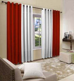 Window Decoration with Curtains - para mi casa - House Interior Decor, Curtains Living Room, Drawing Room Decor, Curtains, Home, Cheap Home Decor, Curtain Designs, Red Bedroom Design, Home Decor