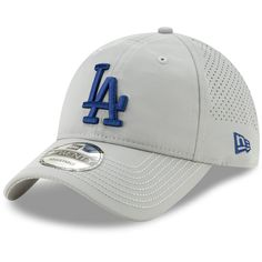 Men s Los Angeles Dodgers New Era Gray Divot Ball Marker 9TWENTY Adjustable  Hat 876cb9ccfc5