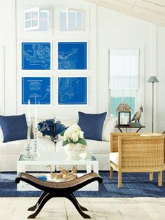 Coastal Living Room / Beachy decor www.blackburninvestors.com