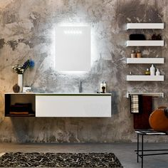 Fancy is the place for you to find amazing things curated by our global community. Small Bathroom Vanities, Modern Bathroom, Bathrooms, Mirror With Lights, Vanity Set, Home Decor Accessories, Modern Lighting, Contemporary Design, Small Spaces