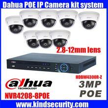 New Dahua HDBW4300R-Z fotoaparát kit 3MP 2,8 do 12mm objektív Vodotesné IP Dome PoE ONVIF s NVR4208-8P POE IP kamery kit webovej kamery (Čína (pevninská časť))