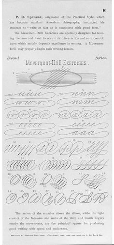 Spencerian Script Exercises