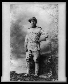 Colonel Theodore Roosevelt, in Rough Rider Uniform, ca 1898. Later president of the U.S.A.