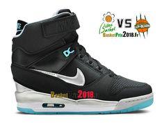 3322fe73fa9e Nike Air Revolution Sky Hi GS Noir Bleu Blanc Argent 599410-014