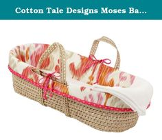 Cotton Tale Designs Moses Basket, Sundance. This moses basket could coordinate perfectly with our sundance baby bedding set, or make a lovely baby shower gift regardless of bedding choices. Lightweight and adorable, this baby basket is a wonderful gift for the expectant mother. Basket may be used to keep your baby near you throughout your day. They create a warm, comfortable place for your baby anywhere in the house. After your baby has outgrown the basket, it can be a gorgeous decorative...